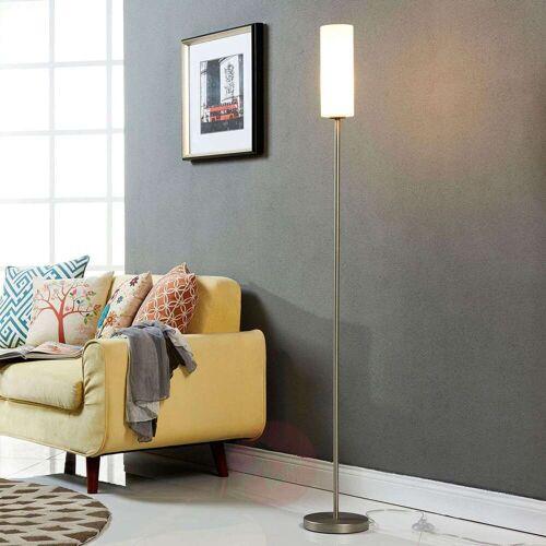 Lindby Dezente Stehlampe Vinsta mit schmalem Glasschirm
