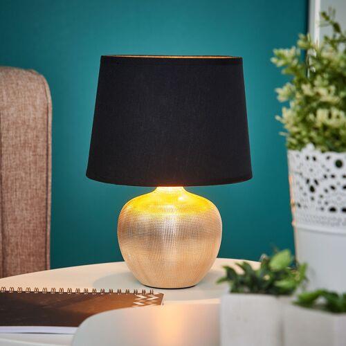 Lindby Schwarzgoldene Tischlampe Thorina