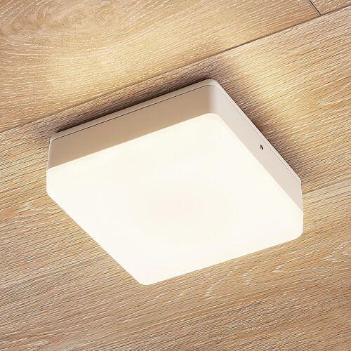 Lampenwelt.com LED-Deckenlampe Thilo, IP54, weiß, 16 cm