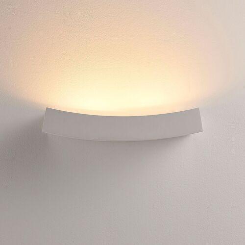 Lindby LED-Wandfluter Tiara aus Gips, G9-Lampe dimmbar