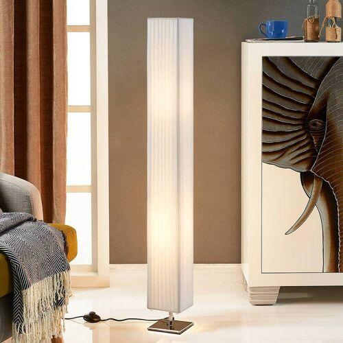 Lindby Weiße Stoff-Stehlampe Janno