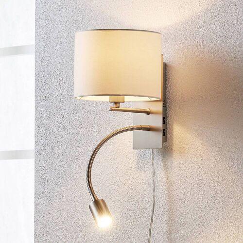 Lindby Florens - Textilwandlampe mit LED-Leselampe