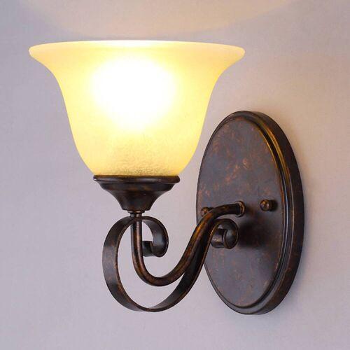 Lucande Wandlampe Svera im Landhausstil, E27 LED
