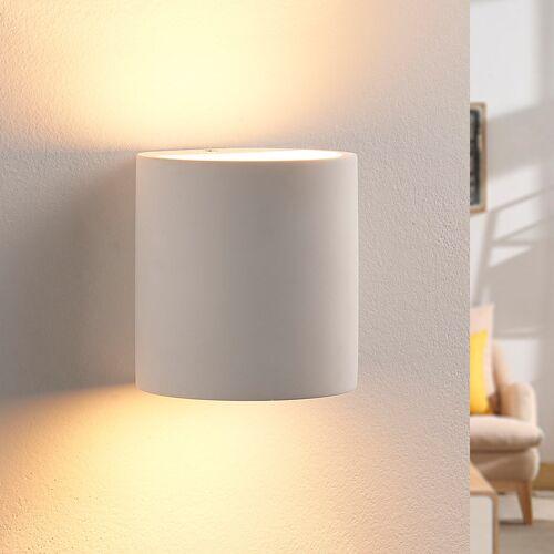 Lindby Gipswandleuchte Krista mit G9-LED-Lampe