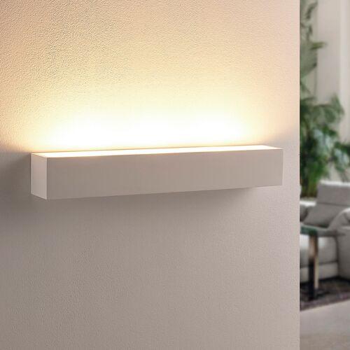 Lindby Weißer LED-Gipswandfluter Santino, eckig