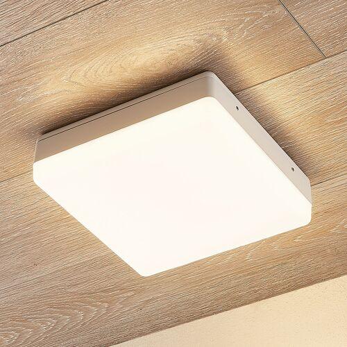Lampenwelt.com LED-Deckenlampe Thilo, IP54, weiß, 24 cm