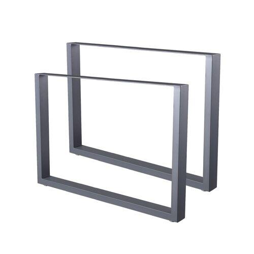 Zelsius Tischkufen 2er Set (B)100 x (H)72 cm, Metall Tischbeine, grau