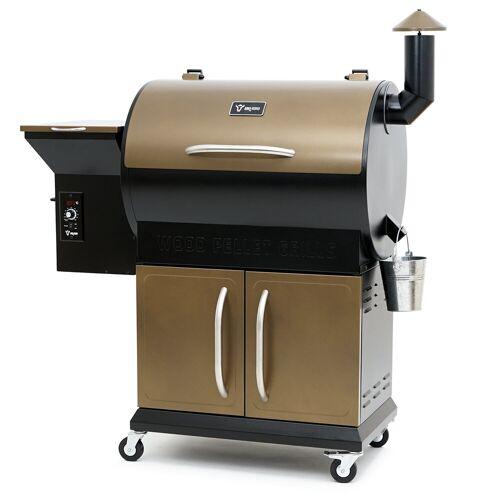 BBQ-Toro Pellet Smoker Grill PG1  Schwarz - Gold  Pelletgrill
