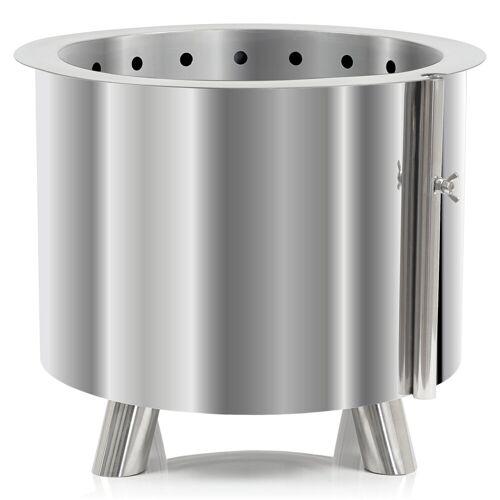 BBQ-Toro Edelstahl Feuertonne Ø 46 cm  mit Füßen  moderner Feuerkorb