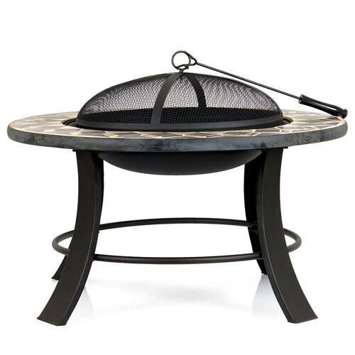 BBQ-Toro Feuerschale  Ø 75 cm  Feuerstelle mit Funkenschutz und Schürhaken