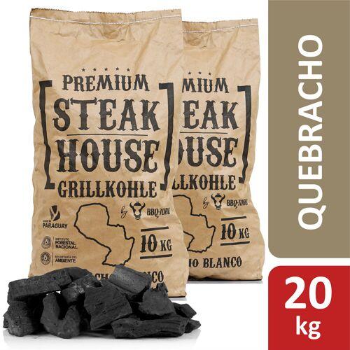 BBQ-Toro Premium Steak House Grillkohle  20 kg  Quebracho Blanco