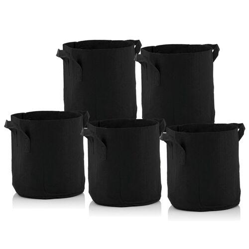Zelsius Pflanzsack  11 Liter - schwarz  5 Stück  atmungsaktive Pflanztasche