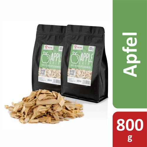 BBQ-Toro Apple Smoker Chips (800 g) Räucherchips Apfelholz Smokerchips