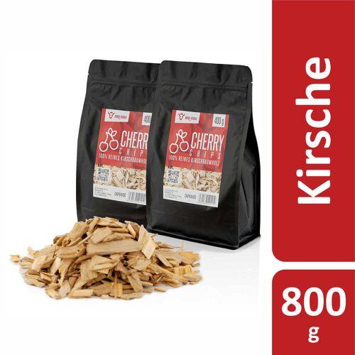 BBQ-Toro Cherry Smoker Chips (800 g) Räucherchips aus Kirschholz