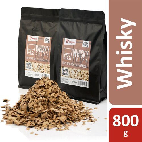 BBQ-Toro Whisky Smoker Chips  800 g  aus 100% Whisky-Eichenfässer