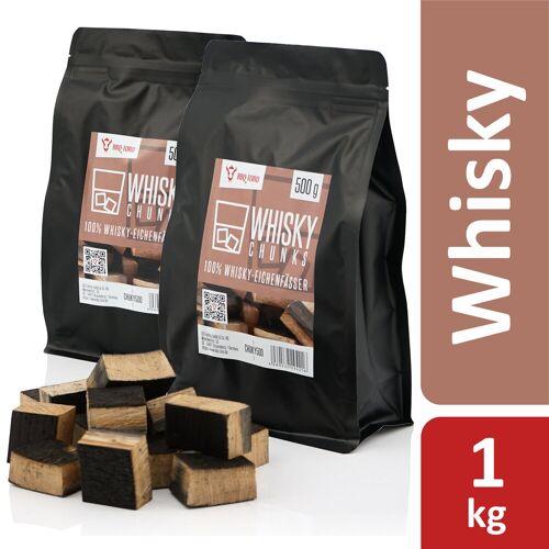 BBQ-Toro Whisky Chunks  1 kg  aus 100% Whisky-Eichenfässer