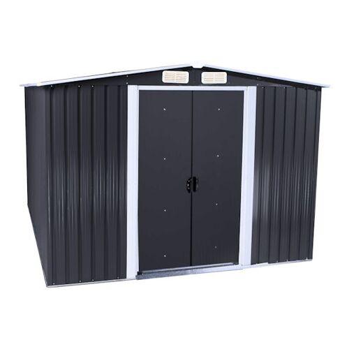 Zelsius Gerätehaus grau, Geräteschuppen mit Giebeldach, 236x174x190 cm