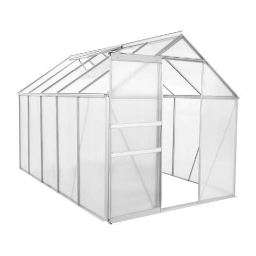 Zelsius Aluminium Gewächshaus, 310 x 190 cm, 6 mm Platten, ca. 5,90 m²