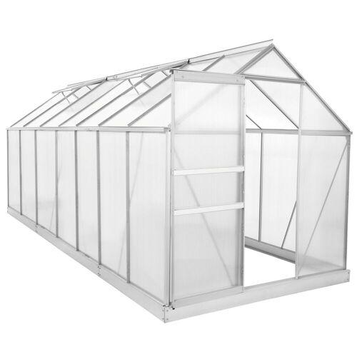 Zelsius Set: Zelsius - Aluminium Gewächshaus, 430 x 190 cm, inkl. Fundament