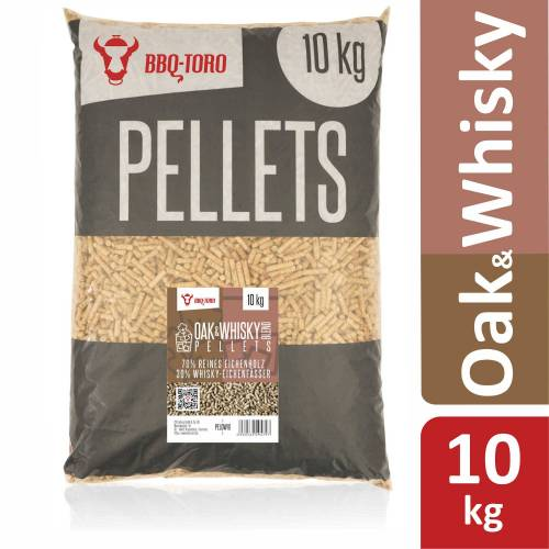 BBQ-Toro 10 kg Oak & Whisky Blend Pellets  70% Eiche und 30% Whisky