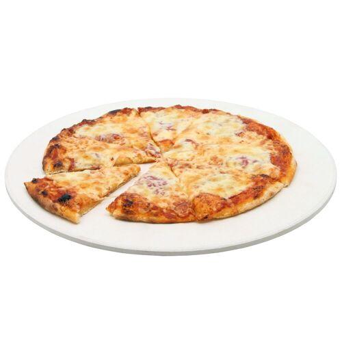 BBQ-Toro Pizzastein, Ø 38 cm Pizza Stein für Kugelgrill und mehr