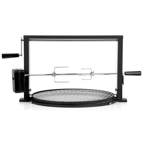 BBQ-Toro Grillspieß Set mit Grillrost  Rotisserie Grillaufsatz für Kugelgrill