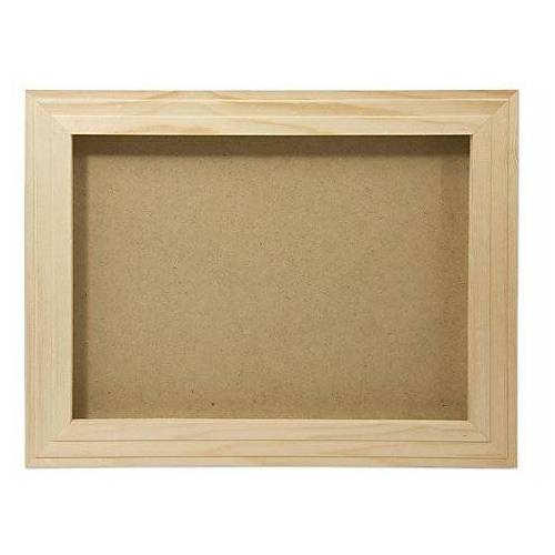 3D-Bilderrahmen aus Holz, 42,5 x 33,5 x 3,5 cm