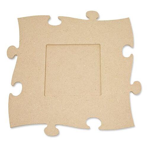 """MDF-Puzzle-Bilderrahmen """"Quadrat"""", 24 x 24 cm"""