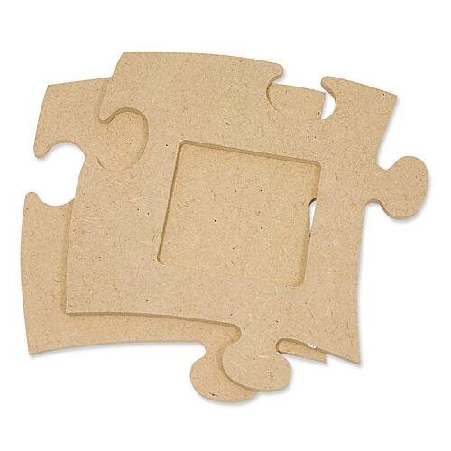 """MDF-Puzzle-Bilderrahmen """"Quadrat"""", 12 x 12 cm"""