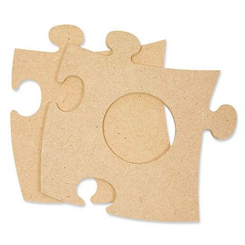 """MDF-Puzzle-Bilderrahmen """"Rund"""", 12 x 12 cm"""