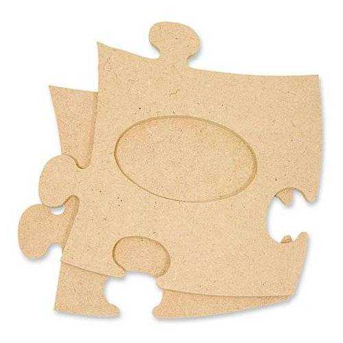 """MDF-Puzzle-Bilderrahmen """"Oval"""", 12 x 12 cm"""