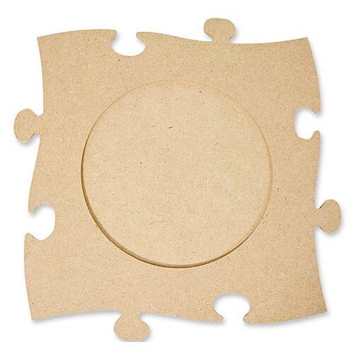 """MDF-Puzzle-Bilderrahmen """"Rund"""", 24 x 24 cm"""