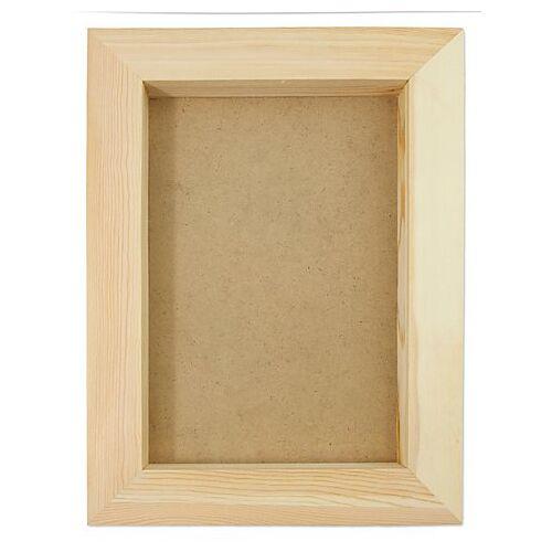 3D-Bilderrahmen aus Holz, 36 x 27 x 3 cm
