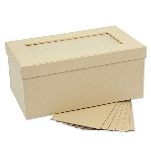Rechteckige Fotobox aus Pappe, 27,5 x 16,5 x 11,5 cm