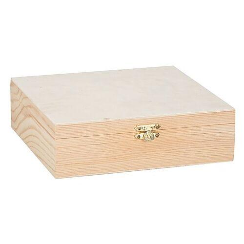 Servietten-Box aus Holz, 18,5 x 18,5 x 5,5 cm