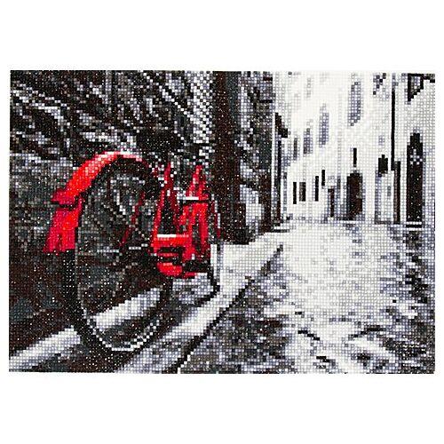 """Diamantenstickerei-Set """"Fahrrad"""", 34 x 24 cm"""