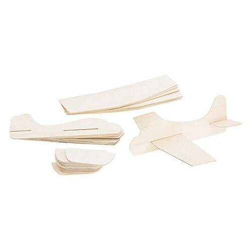 Holzflugzeuge-Set, für 12 Flugzeuge