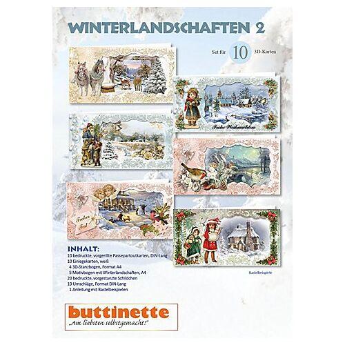 "3D-Bastelmappe ""Winterlandschaften 2"""