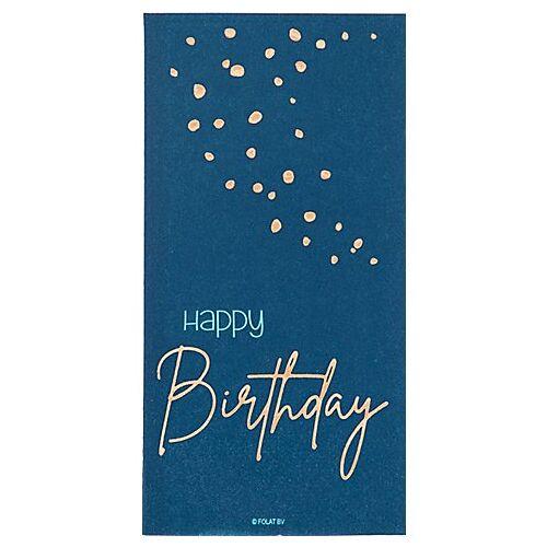 """Servietten """"Happy Birthday"""", 8,5 x 16 cm, blau"""