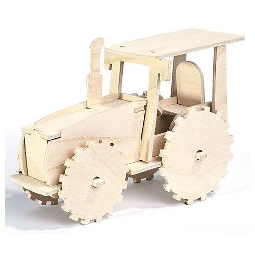 Holzbausatz Traktor, 15 x 11 cm