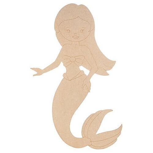 MDF-Meerjungfrau, 29 x 50 cm