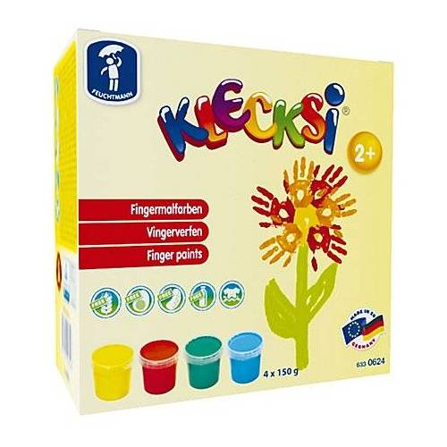 KLECKSI Fingermalfarben, 4 Farben