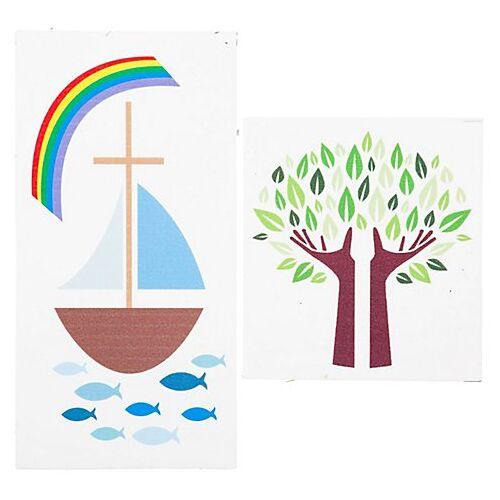 """Wachsbild """"Boot und Baum"""", 2 Stück"""