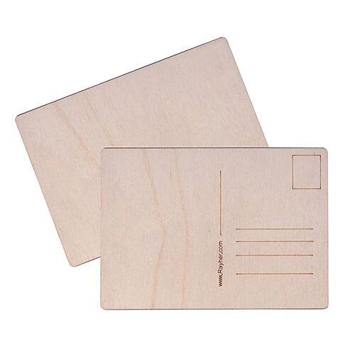 Postkarte aus Holz, 14,8 x 10,5 cm, 2 Stück