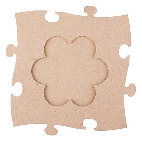 """MDF-Puzzle-Bilderrahmen """"Blume"""", 24 x 24 cm"""