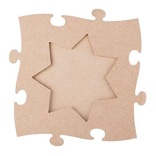 "MDF-Puzzle-Bilderrahmen ""Stern"", 24 x 24 cm"