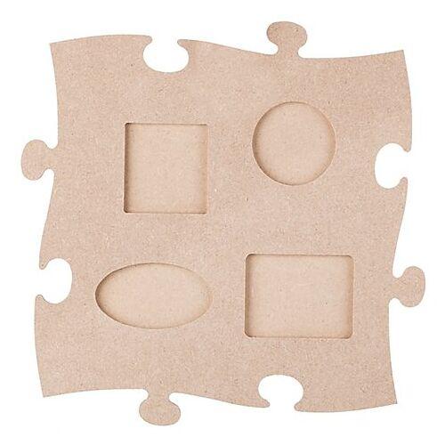 """MDF-Puzzle-Bilderrahmen """"Formen"""", 24 x 24 cm"""