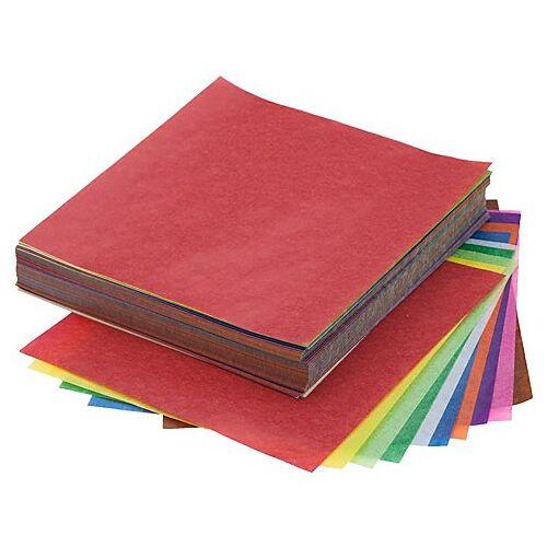 Transparentes Faltpapier, bunt, 12 x 12 cm, 600 Blatt