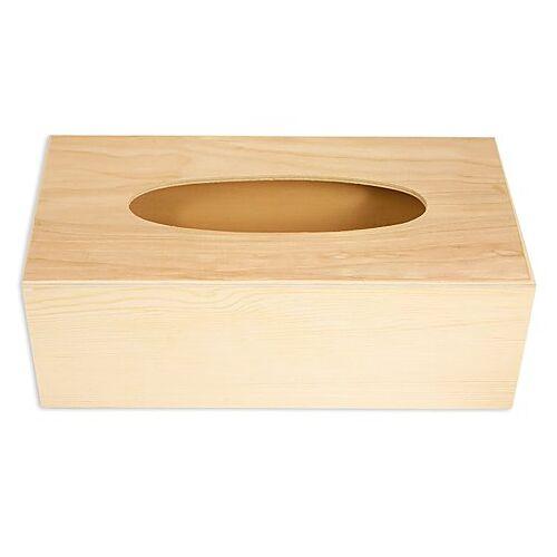 Kosmetiktuchbox aus Holz, 25 x 12,5 x 9 cm