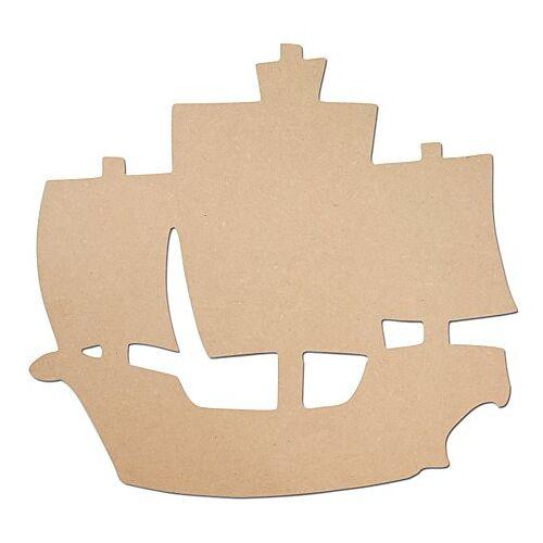 MDF-Piratenschiff, 43 x 40 cm